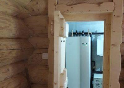 Pompa de caldura geotermala NIBE f1245 la pensiune din lemn