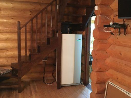Pompa de caldura la CASA de Vacanta din lemn